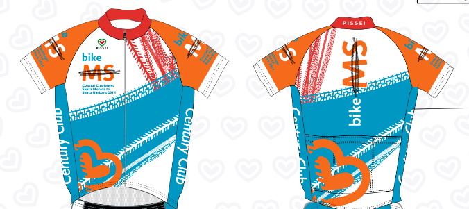 Bike MS Coastal Challenge 2014 Century Club Jersey